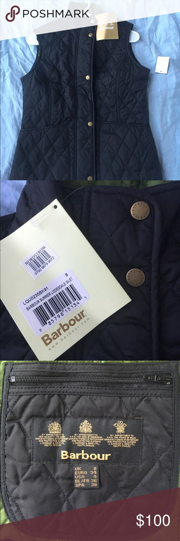 Barbour vest NWT Barbour Vest, purchased in two sizes and the other one was the right fit! Barbour Jackets & Coats Vests