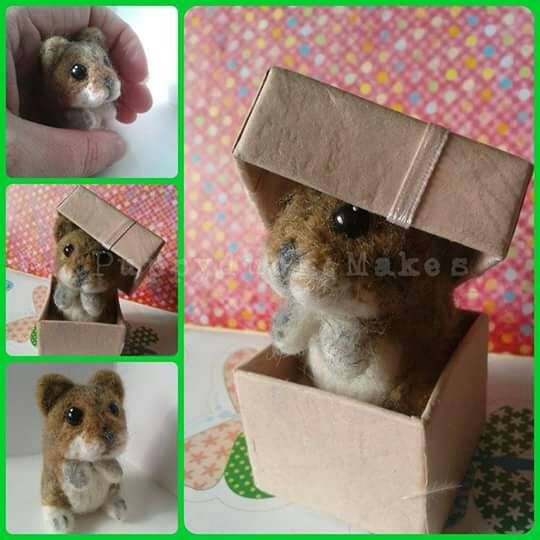 Lifesized Hamster needle felt/pet portrait/critter/rodent with box. - pinned by pin4etsy.com