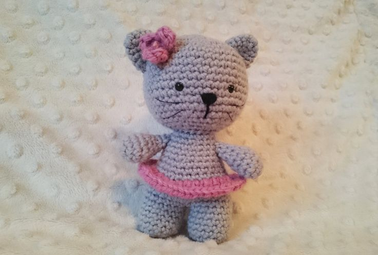 Crochet amigurumi cat by CrochetAga on Etsy