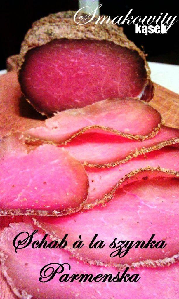 Schab à la szynka Parmeńska              Czego potrzebujemy:        1 kg schabu bądź polędwicy  sól (ok 100g), kolendra (ok 1...