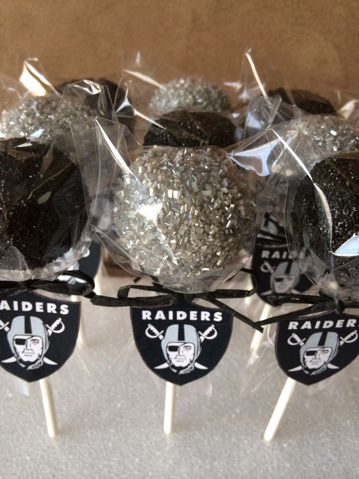 Raiders Cake Pops