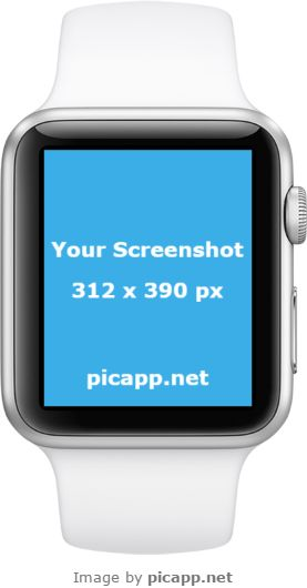 Put your app screenshot in this cool, white Apple Watch in portrait position to see how it looks. You can do this easy and without effort with Picapp.net. Picapp.net is an online tool with a large library of device frames. Try it and tell us what you think! It's free! #apple #nobackground #mockup #AppleWatch #smartwatch #picapp