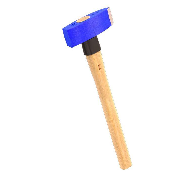 Bon Tool 3 Lb Rectangular Face Stone Mason Hammer Stone Tools Home Depot