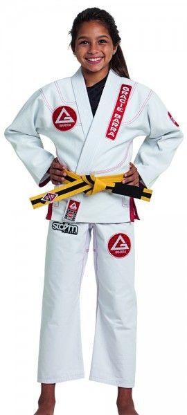 Gracie barra Brazilian Jiujitsu gi Future Champ white kid kimono