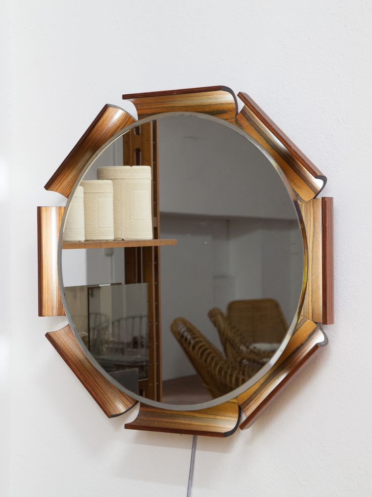 Specchio retro illuminato