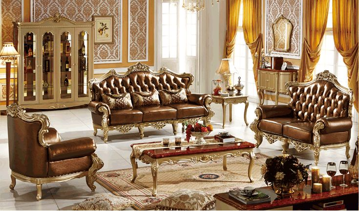 New design classical leather room sofa,American home furniture 0409-196