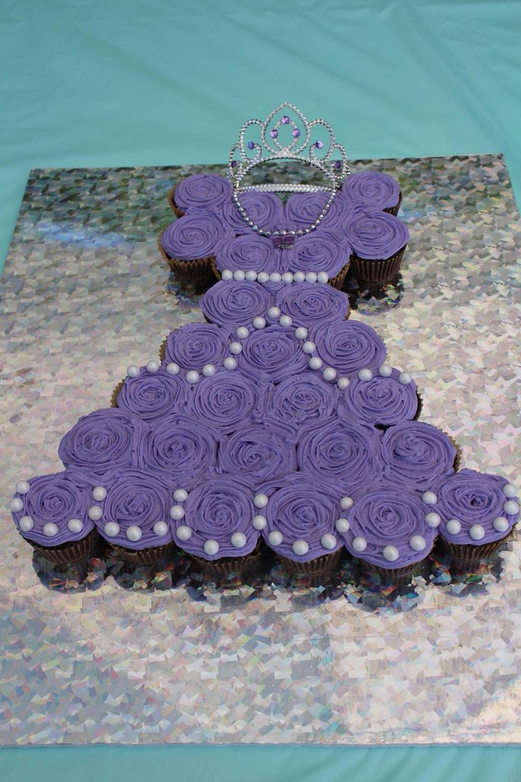 Paisleys Princess Sofia cupcake dress I made for her 3rd birthday!