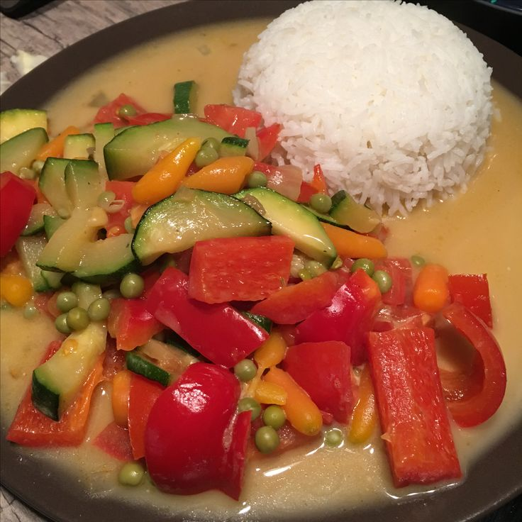 Rice with mixed vegetables