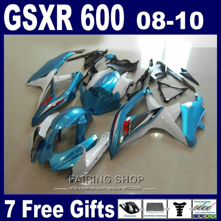 (348.75$)  Watch more here  - Injection molded hot sale fairings for suzuki gsxr 600 750 08 09 10 green white fairing kit gsxr750 2008 2009 2010 nm143