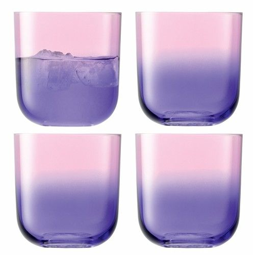 purple tumblers: Purple Ombre, Ombre Tumblers, Drinks Glasses, Ombre Glasses, Glasses Decor, Cute Glasses, Design Sponge, Glasses Jars, Purple Glasses