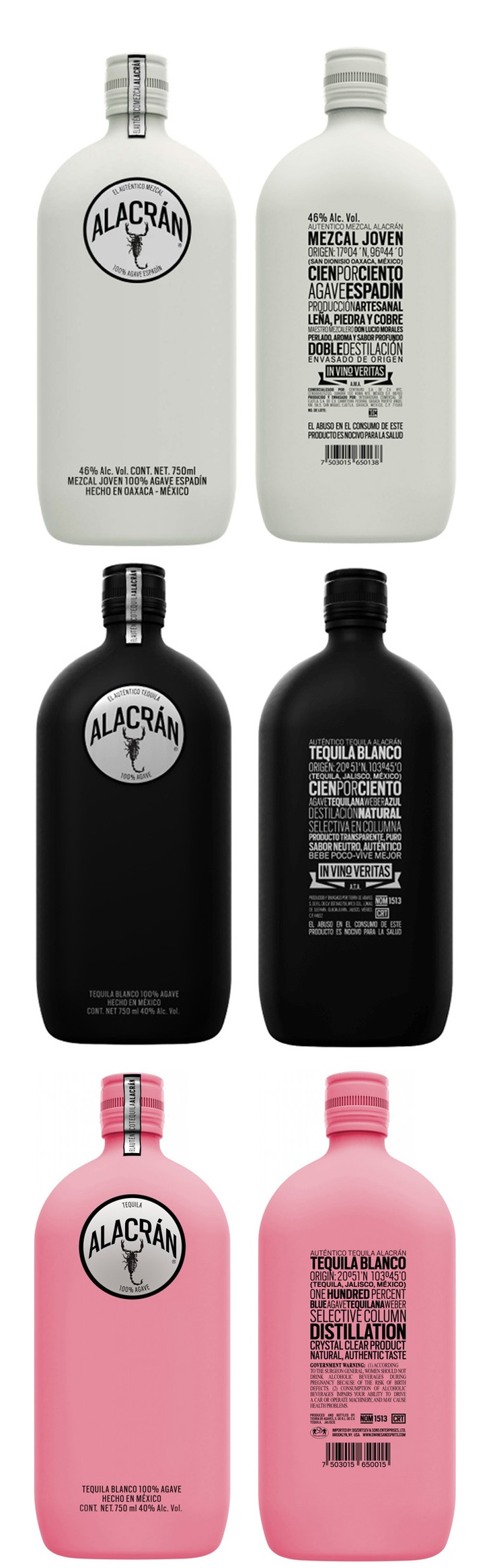 Alacran Tequilas - including the special Limited Pink Edition to support Breast Cancer Research.