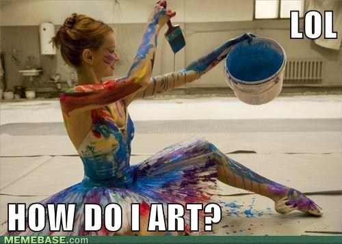 This is what I look like after I paint my nails, or any canvas for that matter.. and when I eat chocolate :P: Ballet Dancers, Points Shoes, The Artists, Funny Pictures, Rainbows Color, Brushes Strokes, Pictures Quotes, Costumes Ideas, Wild Child