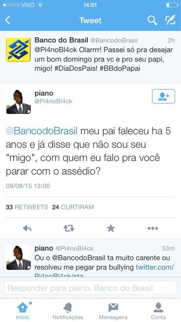 SAC SOCIAL efusivo do Banco do Brasil. Papi?