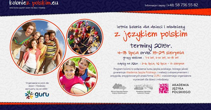 Akademia Języka Polskiego (Academy of Polish Language) – the oldest Polish language school in Gdańsk, invite all children and teenagers (7-18  y.o.) to the Summer camp with Polish language course. The summer camp is organized in two locations #Chmielno and #Łapino near #Gdańsk.