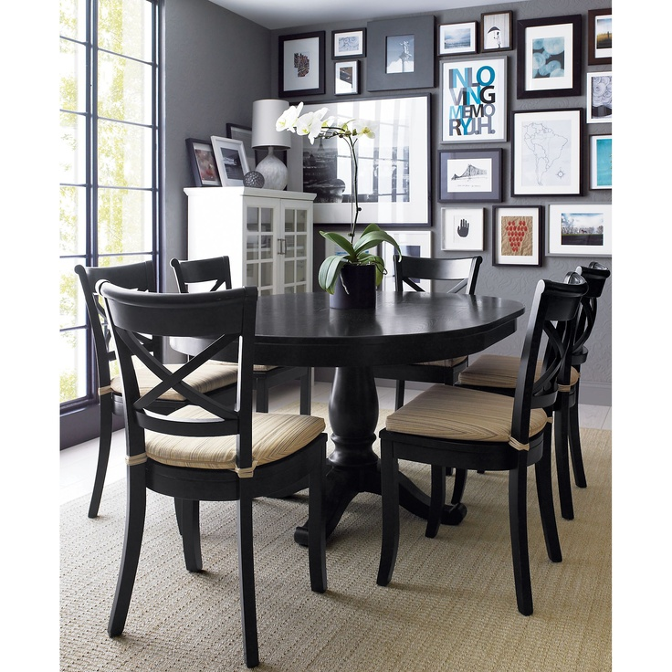 avalon 45 black extension dining table