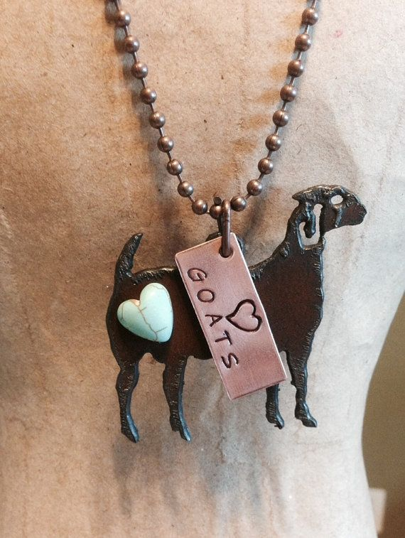 LOVE HEART GOATS Show Necklace made of Rustic by TheRusticBarnAZ, $20.00