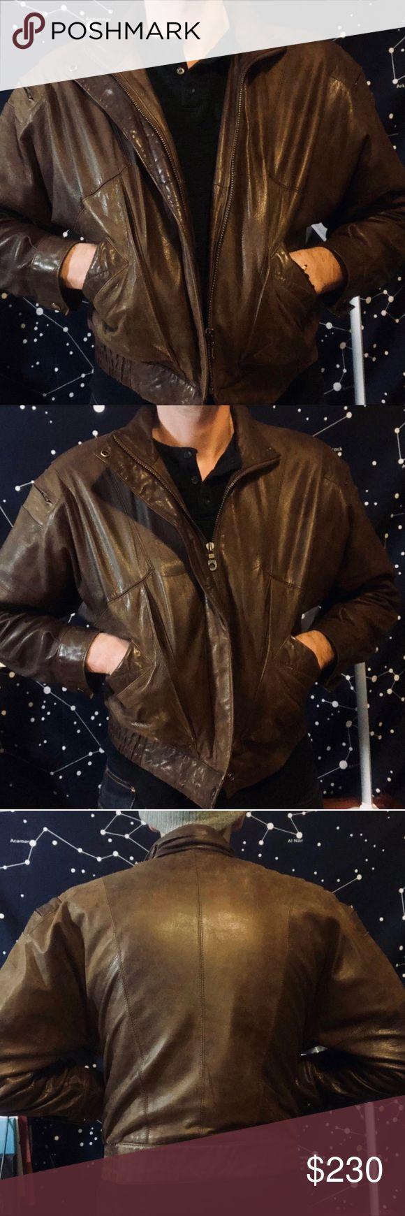 R/S Vintage Genuine Leather Jacket in 2020 Genuine