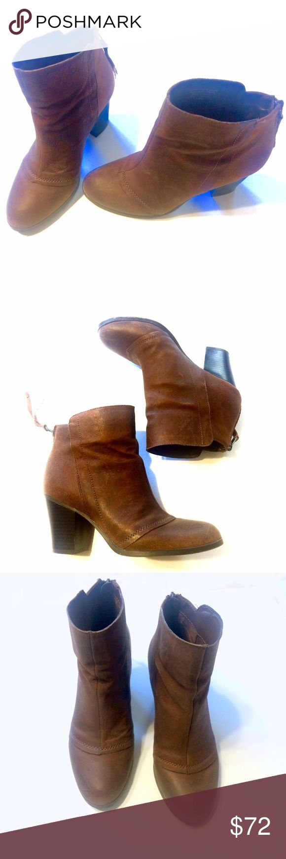 Super cute boots - worn twice Adorable BAR II Jillian ankle bootie features leather upper & man-made sole with rounded toe. Perfect for wear out, work to casual dressing.- so somewhere but they are naturally distressed as well- Great condition💕 Bar III Shoes Ankle Boots & Booties