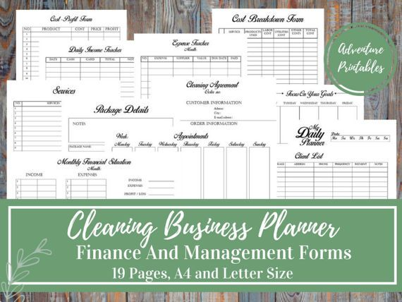Cleaning Business Planner and Manager, Cleaning Services, Small Business Plan, Business Finance and Business Management Printable Forms, service package, inventory list, cleaning agreement, appointment form. This Cleaning Business Planner Bundle is for people who love having an
