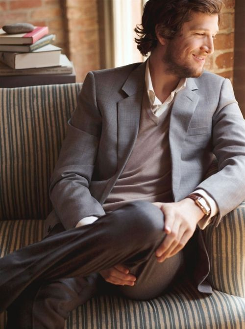ZsaZsa Bellagio:This Man, Grey Suits, Fall Style, The Mentalist, Men Style, Guillaumecanet, Men Fashion, Guillaume Canet, Casual Looks