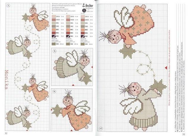 ((¯`·.¸¸.·♥♥♥♥♥ GRÁFICOS DE PUNTO DE CRUZ NAVIDAD ---- ♥♥♥♥♥.¸¸.·´¯)) - Página 2 - Univision Foro / Forum: Cross Stitch, Angel, Puntodecruz, Stitches Christmas, Cross Stitch, Crossstitch Christmas, Crosses Stitches