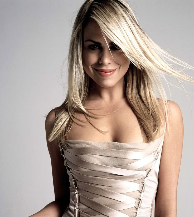 Billie Piper. I'm pinning this because whatever the hell she is wearing (shirt or dress) I want it!!!