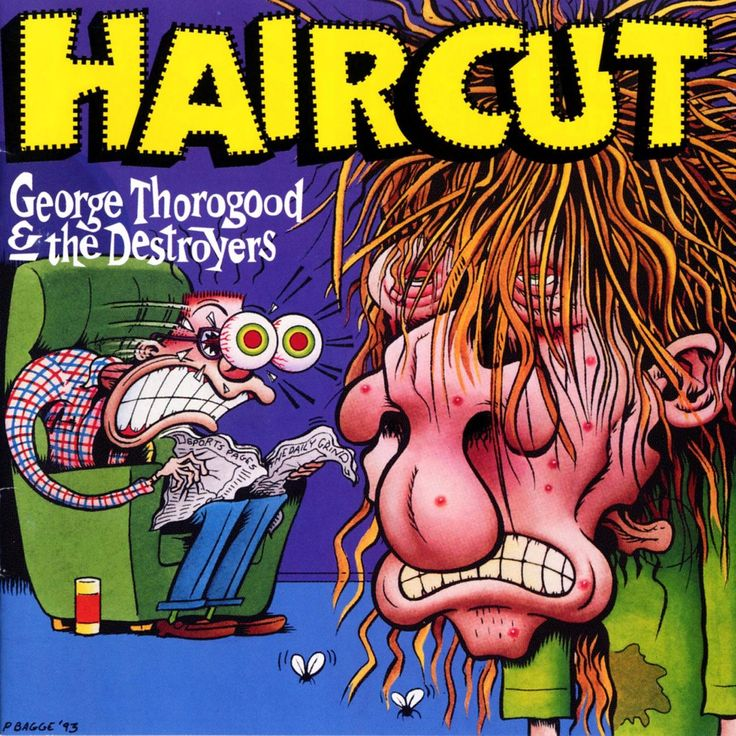George Thorogood Haircut album cover by Peter Bagge. A snippet from an interview in which Thorogood shares his feelings about the art.
