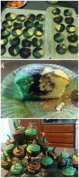 Military cupcakes :)