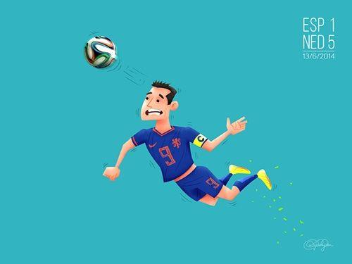 2. La goliza del equipo holandés al entonces todavìa campeón España, donde el personaje primordial fue Robin van Persie.