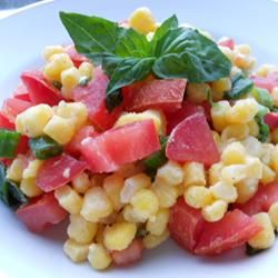 Summer Corn Salad Allrecipes.comBasil Vinaigrette, Fresh Basil, Healthy Salad, Summer Corn Salad, Buttery Yellow, Salad Recipe, Salad Allrecipescom, Flavored Salad, Allrecipes Com