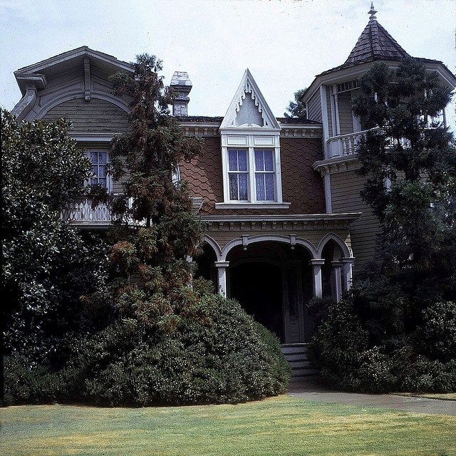 The Munster House - 1313 Mockingbird Lane.  Photographed in July 1969 at Universal Studios.