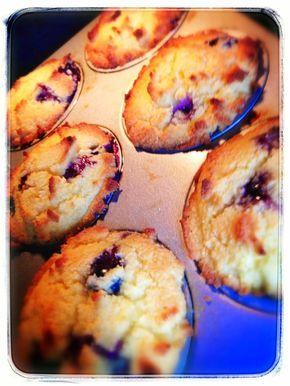 Muffins met bosbessen & kokosmeel