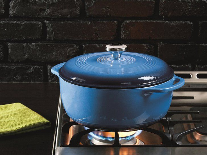Pin for Later: 30 Budget-Friendly Kitchen Essentials Every 20-Something Cook Should Own Under $100: Lodge Enameled Dutch Oven Lodge enameled dutch oven ($60, originally $118)