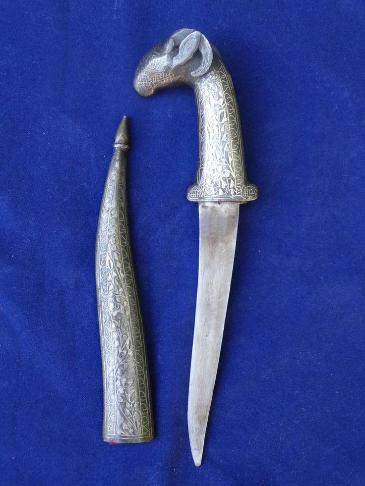 BRIEFÖFFNER ANTIK WIDDERKOPF RAM SCHLOSSBESTAND CASTLE ANTIQUE PAPER KNIFE