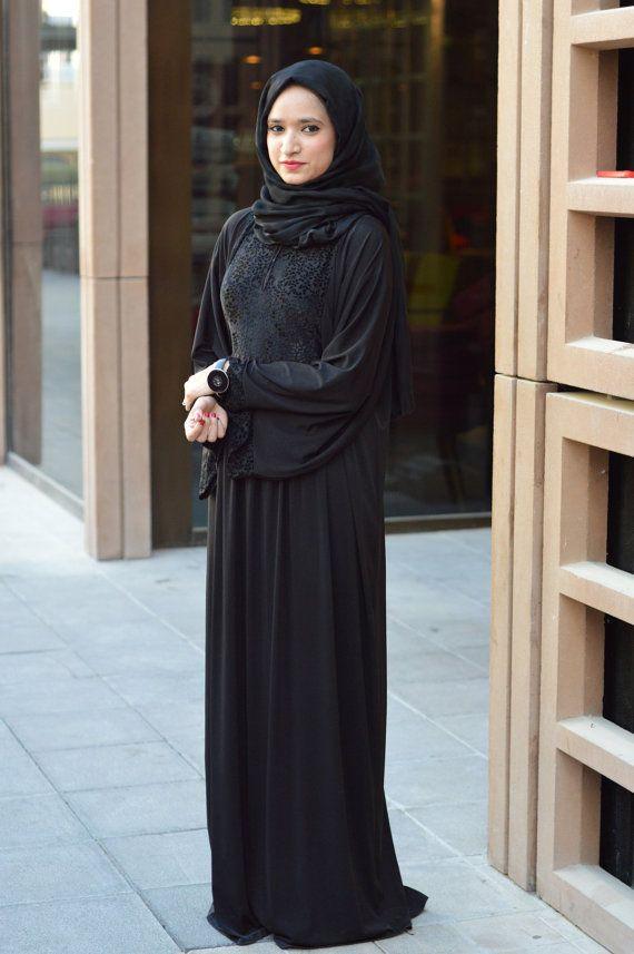 Velvet Abaya Everyday Abaya Arabic Abaya Arabic by MinShaFashion
