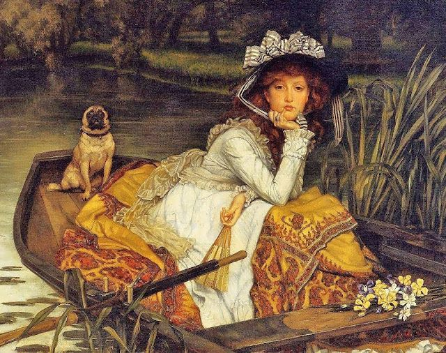 James Jacques Joseph Tissot (French artist, 1836–1902) Young Woman in a Boat Detail