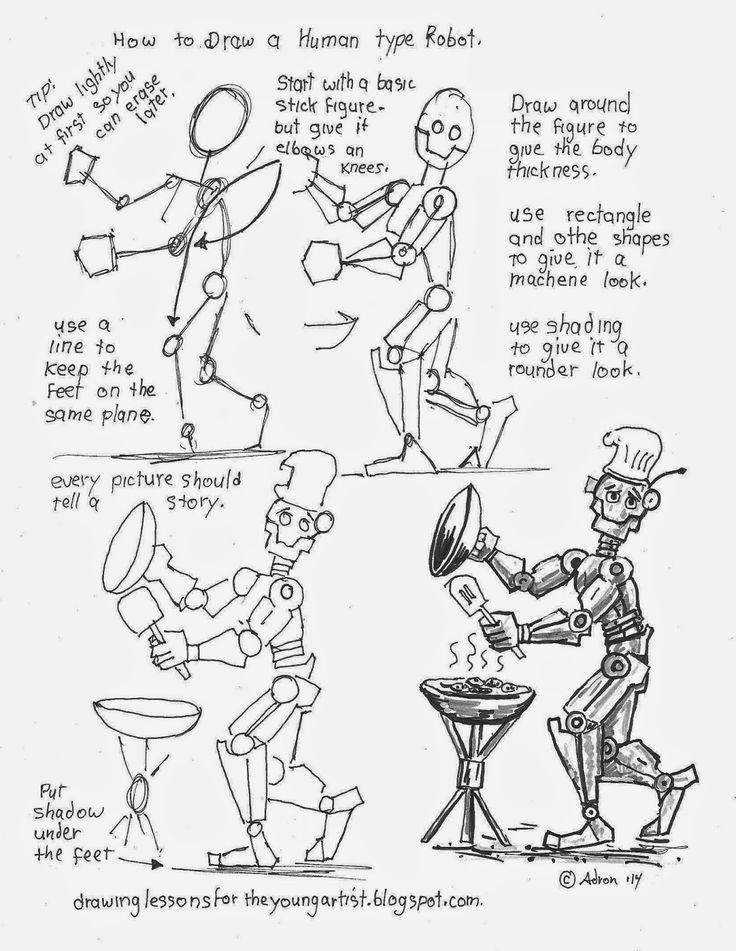 how to draw worksheets for the young artist how to draw a friendly human type - Printable Drawing Worksheets