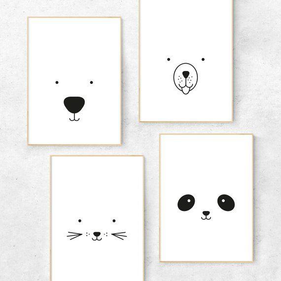 Bear print – Bear nursery print – Bear nursery decor – Bear nursery art – Minimalist nursery art – Scandi nursery – Scandinavian nursery