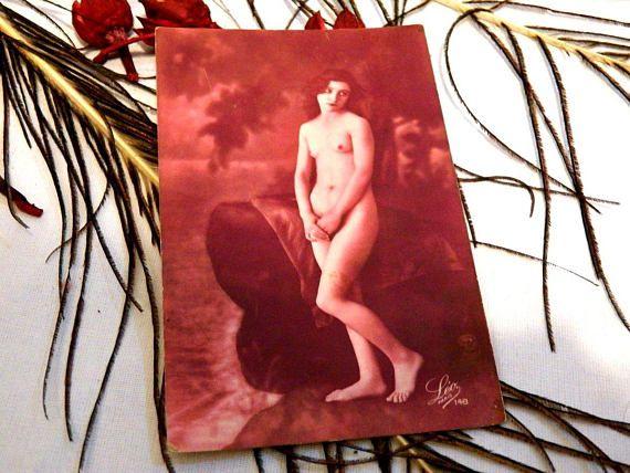 Erotic sensual card