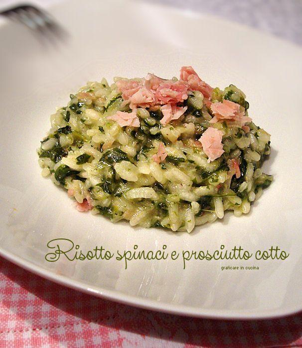 Risotto spinaci e prosciutto cotto