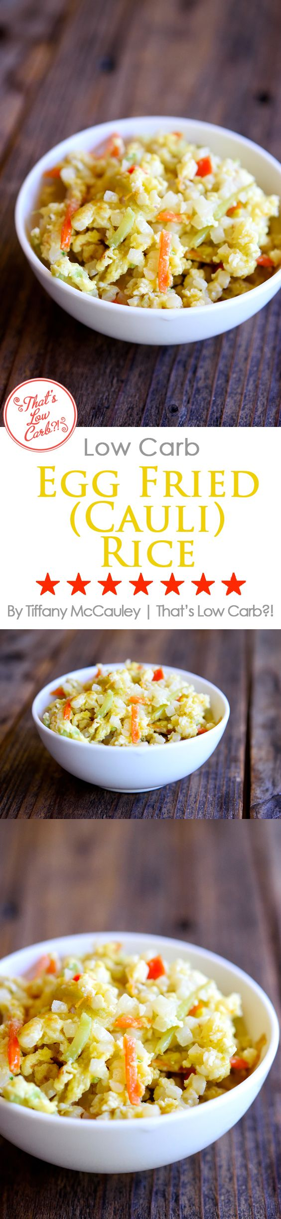 Low Carb Recipes | Egg Fried Rice Recipe | Egg Fried Cauliflower Rice Recipe | Low Carb Asian Food Recipes ~ https://www.thatslowcarb.com