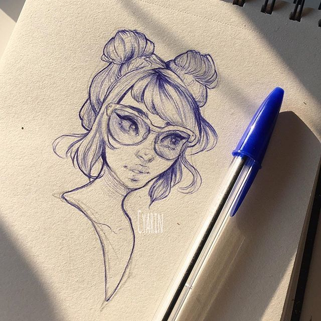 Ballpoint sketch from the other day ✨   Working on some jobs so less time to doodle in between but I'm surely building up inspiration and motivation for after that.. Right ;A;?? Good night!! I'll try to maybe stream tomorrow if I can, you can follow me on twitter (@cyarine like on here) or snapchat (screen name Cyarin) to see how stuff goes during the day but I'll post a link here too if I do go live!