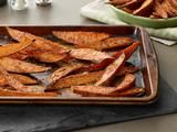 Food Network /  Baked Sweet Potato Wedges Recipe