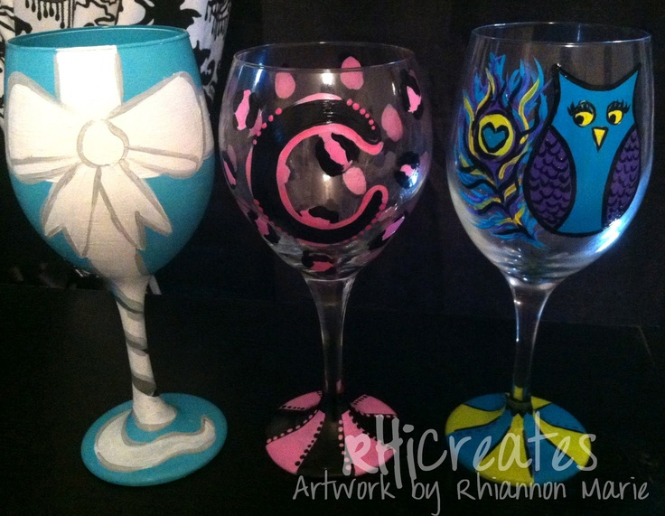 18 best wine glass painting images on pinterest painting for Wine glass painting tutorial