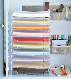 plastic paper-storage trays