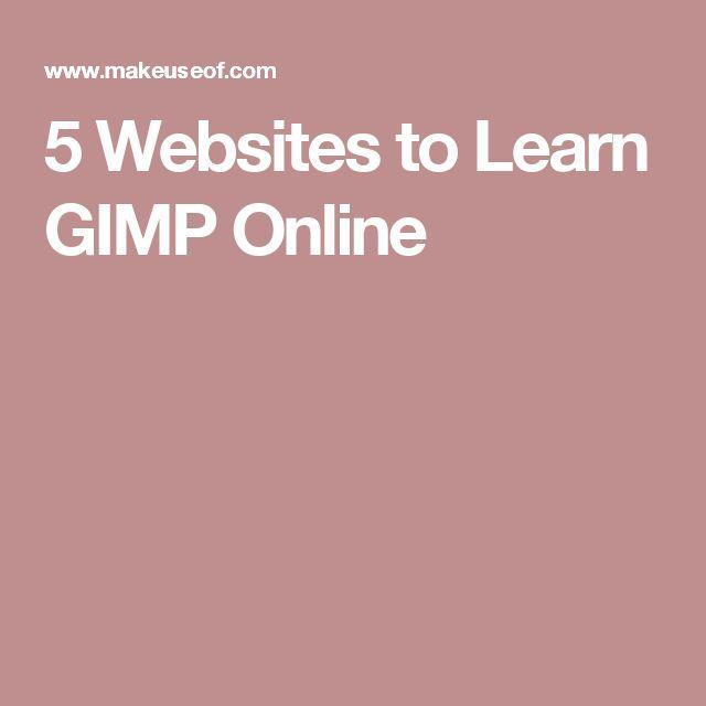 5 Websites to Learn GIMP Online
