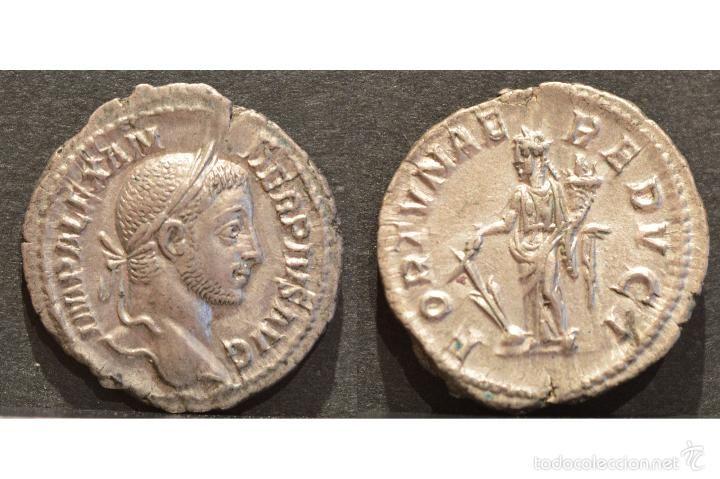 EXCELENTE DENARIO DE ALEJANDRO SEVERO ROMA 231d.C PLATA