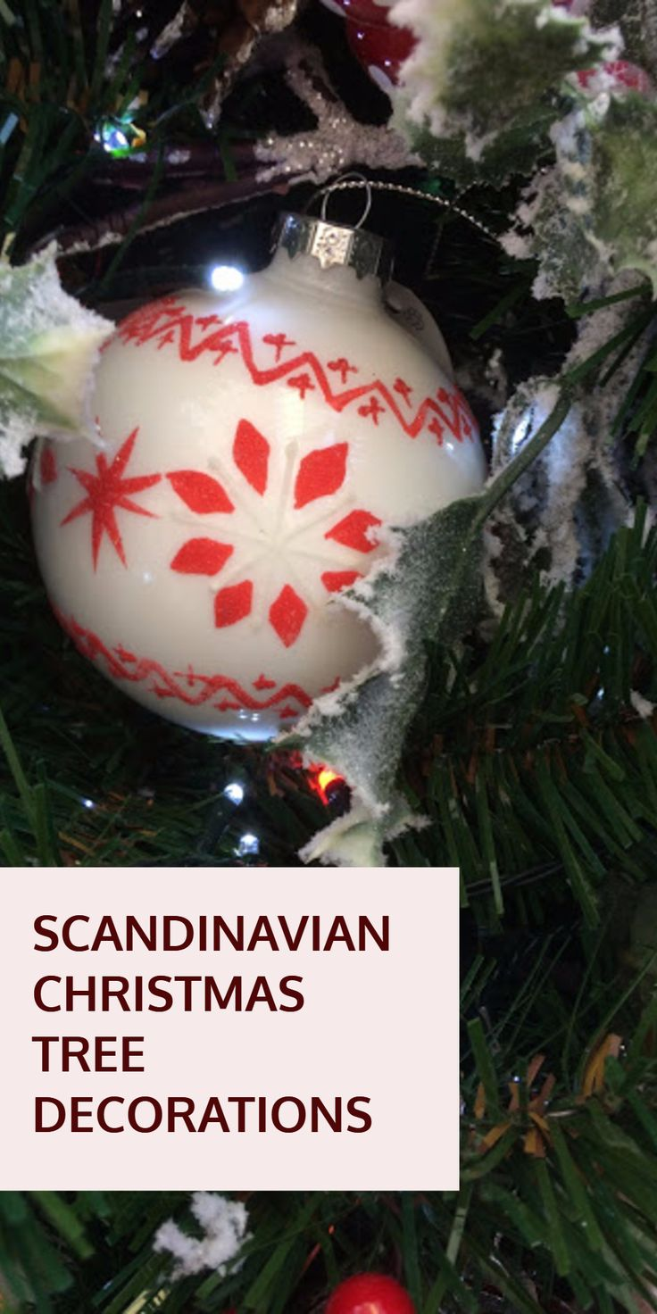 Scandinavian Christmas Tree Decorations Traditional Hand Crafted
