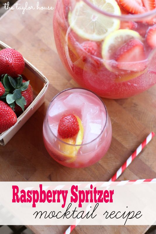 Raspberry Spritzer Mocktail, - YUM Perfect for a summer day (maybe with a little moscato)