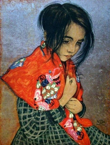 Portrait d'enfant - Walter Sauer